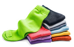 Different color socks isolated Royalty Free Stock Image