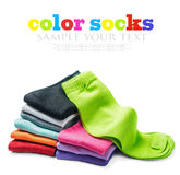 Different color socks Royalty Free Stock Images