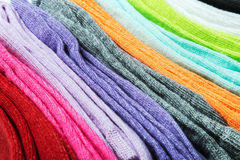 Different color socks textile background Royalty Free Stock Photos