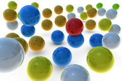Different color spheres. 3D rendering different color spheres Royalty Free Illustration