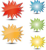 Different color star tag Royalty Free Stock Photography