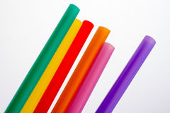 Different color of straw Stock Photography