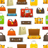 Different color travel bags vector collection Stock Photography