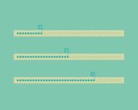 Different color vector cute progress bars. Flat design Stock Images