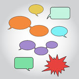 Different color versions of comics speech Royalty Free Stock Images