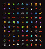 Different color web icons clip-art Stock Image