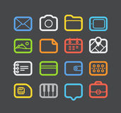 Different color Web icons set. With rounded corners. Design elements Stock Images