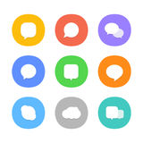 Different color web icons. Social media pictograms Royalty Free Stock Photo