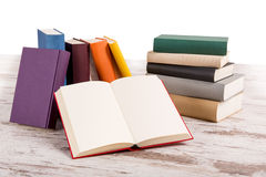 Different colored books Stock Image