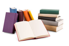 Different colored books Royalty Free Stock Images