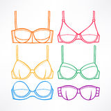 Different colored bras - 2 Stock Photography