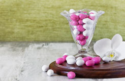 Different colored candies stock photo