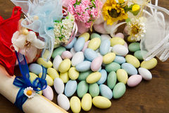 Different Colored Candy Favor Stock Photo