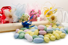 Different colored candy favor Royalty Free Stock Photo
