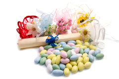 Different colored candy favor Royalty Free Stock Photography