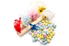 Different colored candy favor Royalty Free Stock Image
