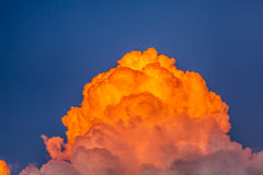 Different colored clouds Stock Photo