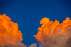 Different colored clouds Royalty Free Stock Photography