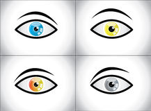 Different Colored Eye Combination concept Royalty Free Stock Photos