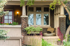 Different colored facades of houses in Toronto Stock Photos