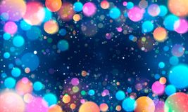 Colorful glittering light blots. Different colored glittering light stains on light background. Different colored glittering light stains on light background Stock Photography