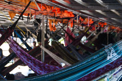 Different colored hammock Stock Photo