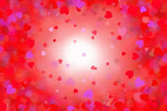 Different colored hearts, illustration Stock Image