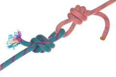 Different colored knots Stock Image