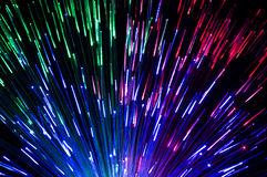 Different colored laser beams create beautiful light effects Royalty Free Stock Image