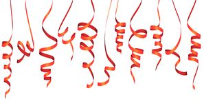 Different colored party garlands. Vector illustration of different colored streamers isolated on white background for party or carnival usage banner mardi gras royalty free illustration