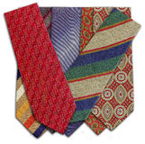 Different colored and patterned ties Stock Photography