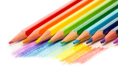 Different colored pencils Stock Photos
