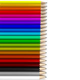 Different colored pencils horizontal Royalty Free Stock Photo