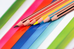 Different colored pencils Stock Photo
