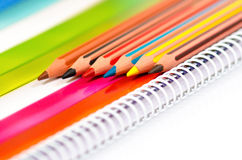 Different colored pencils Stock Photography
