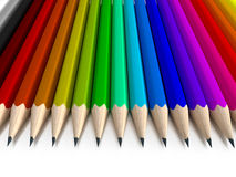 Different colored pencils vertical Royalty Free Stock Photos