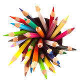 Different colored pencils with white background Stock Image