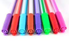 Different colored pens Royalty Free Stock Photo