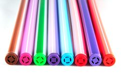 Different colored pens Stock Photography