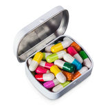 Different colored pills Stock Images