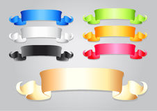 Different colored ribbons Stock Image