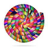Different Colored Rope in spiral Stock Image