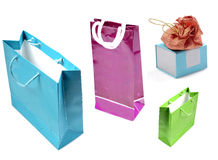 Different colored shopping bags Stock Image