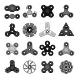 Different colored spinners Royalty Free Stock Images