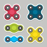 Different colored spinners Stock Image