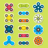 Different colored spinners Royalty Free Stock Photos