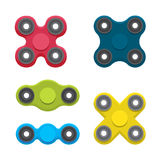 Different colored spinners set Stock Photos