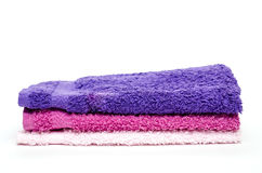 Different colored washcloths Royalty Free Stock Images