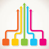 Different colorful arrow network Stock Photography