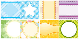 Different colorful background templates Stock Photo
